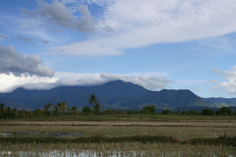 The fields and mountains of Aceh.