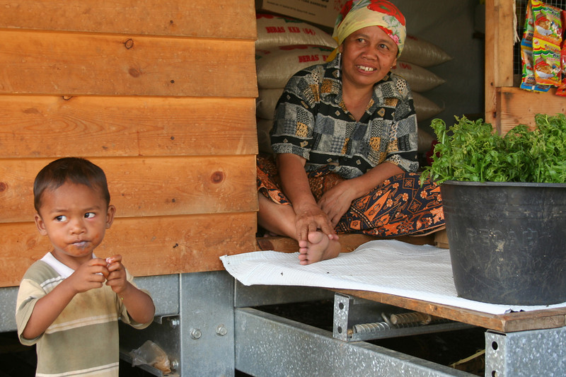 One woman started a little market out of her house.
