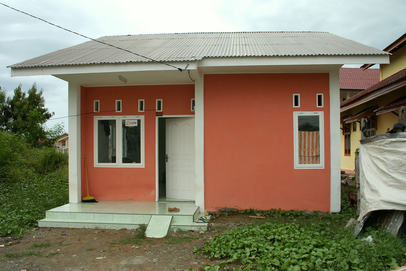 This is an example of some of the housing that is being built to resettle those that lost everything.