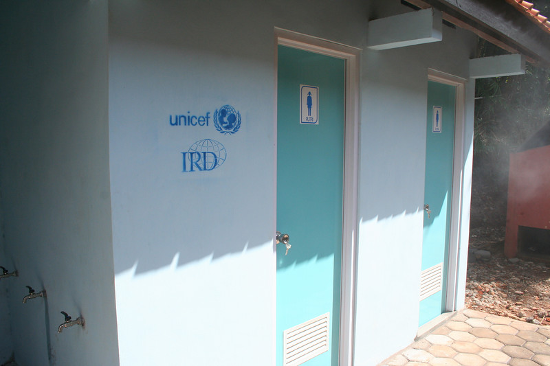 Water and sanitation facilities provided by IRD, along with health and hygiene promotion (the reason I'm here!)