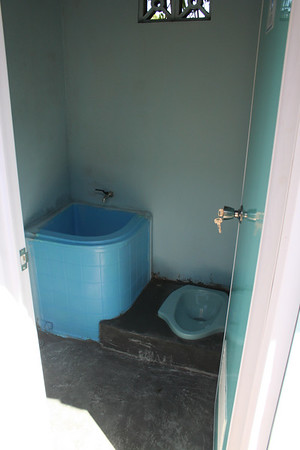 Inside of school latrines