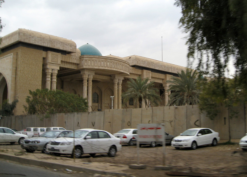 One of Saddam's Palaces.  This part looks structurally sounds, but the bulk of the building is blown up.