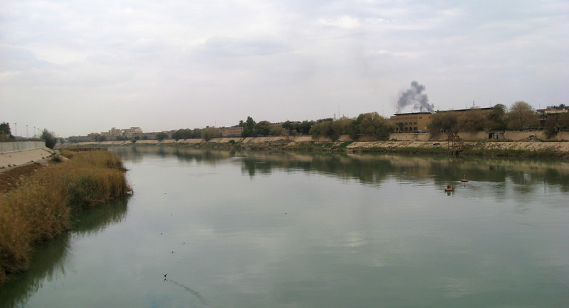 The Tigris River.