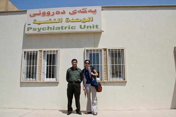 Outside the Erbil Emergency Hospital Psychiatric Unit