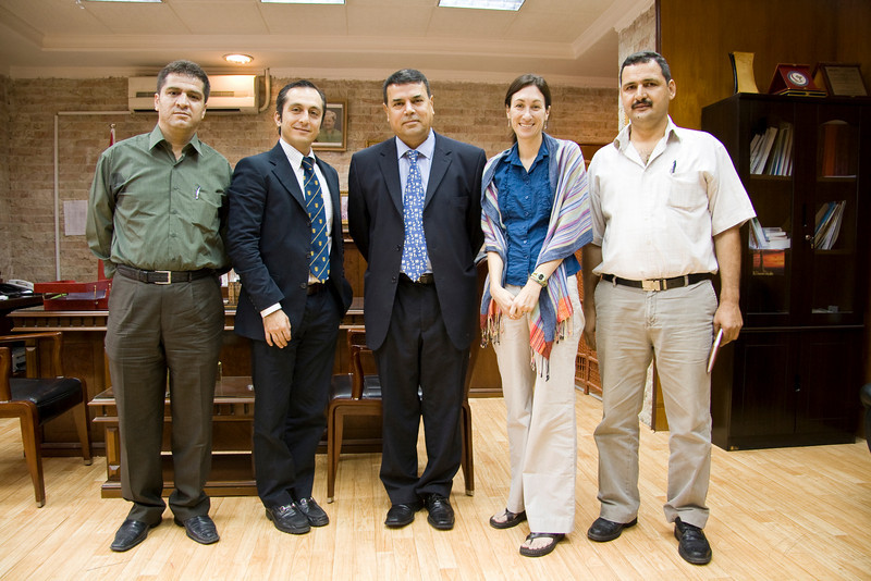 Meeting with the Minister of Health for Kurdistan. From left to right: Dr. Saman, Amir, His Excellency the Minister of Health, Dawn, Hameed