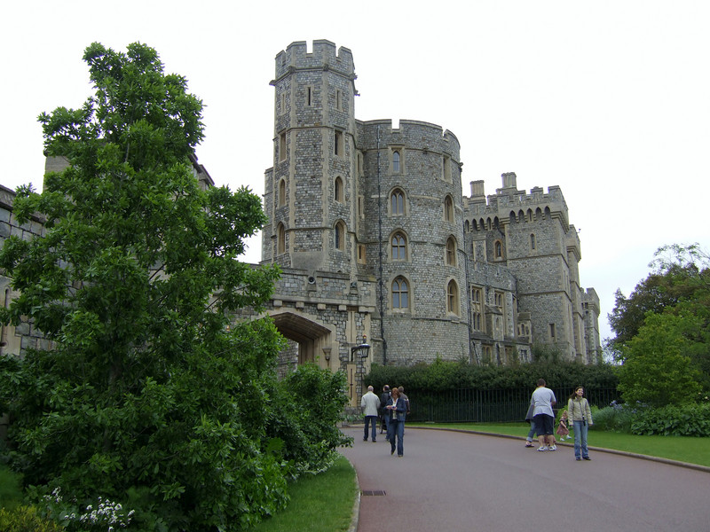 Walking Up to Windsor Castle in England