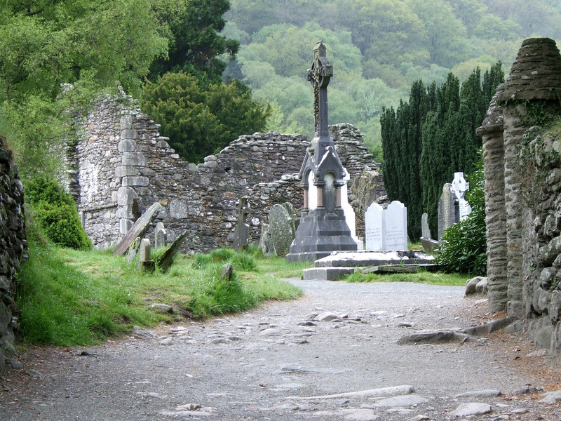 Gravesite at Saint Kevin's Monastery