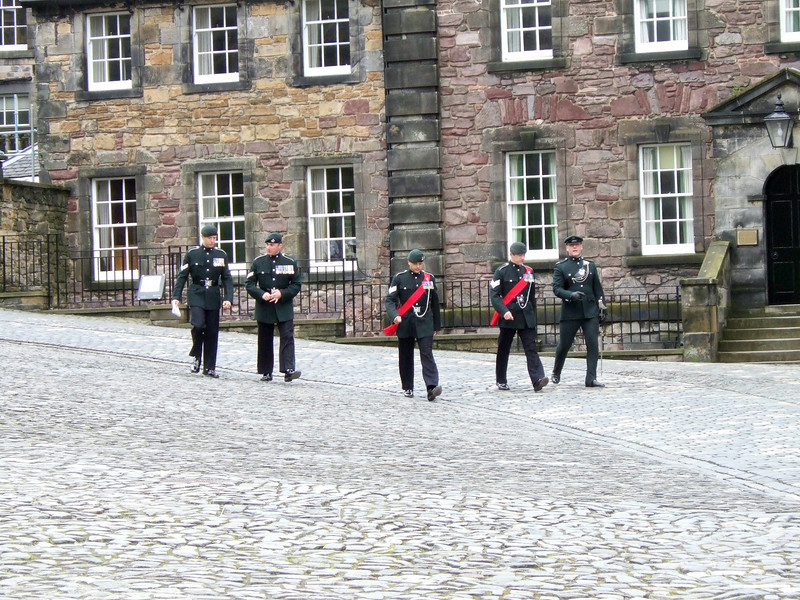 Guards at Edingurgh Castle