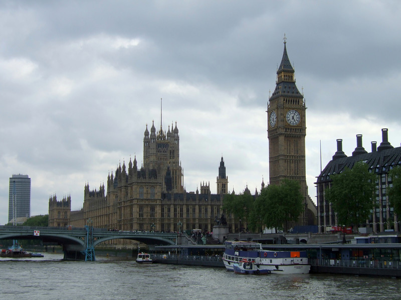 Big Ben and the House of Parliament from the Thames