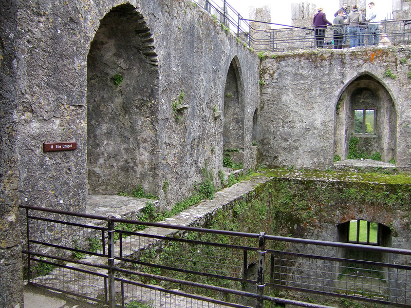 Close to the Stone at Blarney Castle