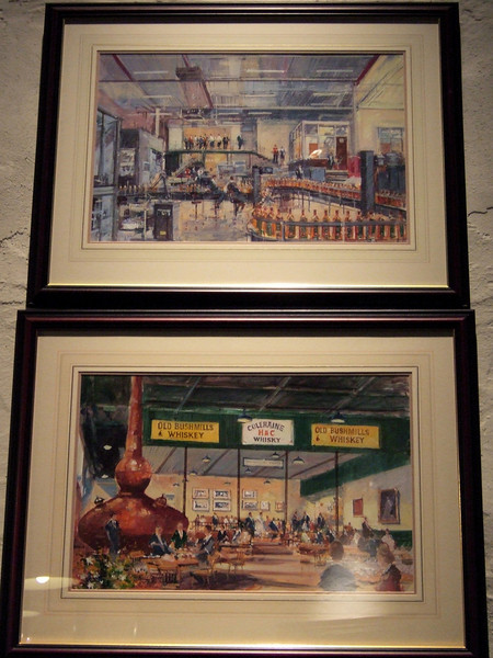 Commerative Pictures at Bushmills Distillery