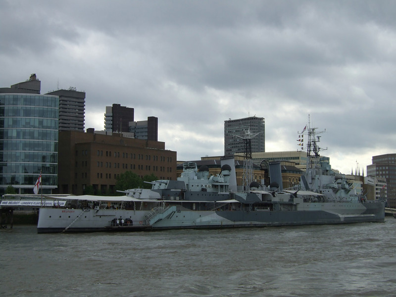 Cruiser Moored in the Thames