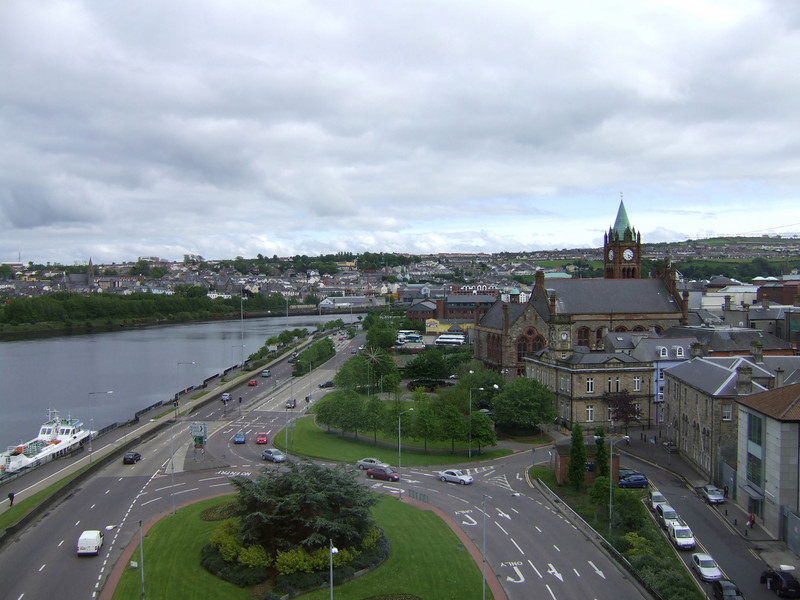 From the Hotel Room Window In Derry