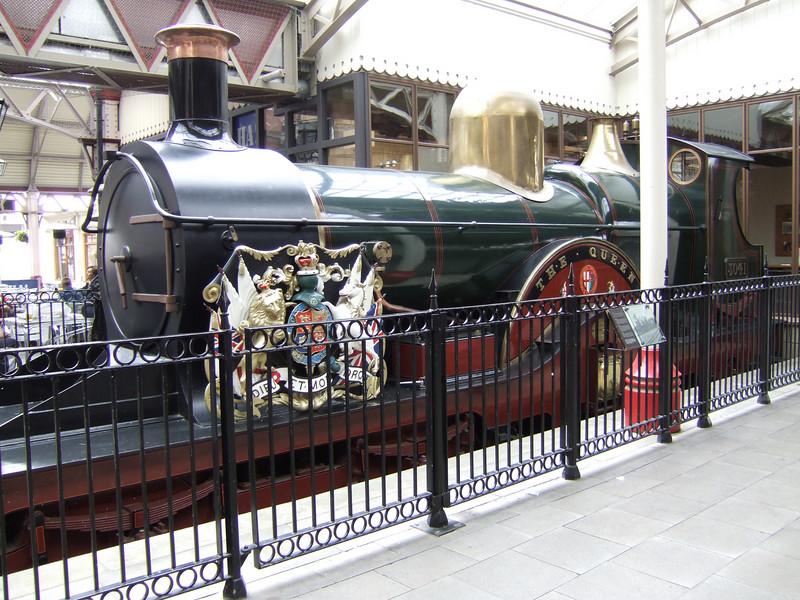 Old Train near the Castle Entrance