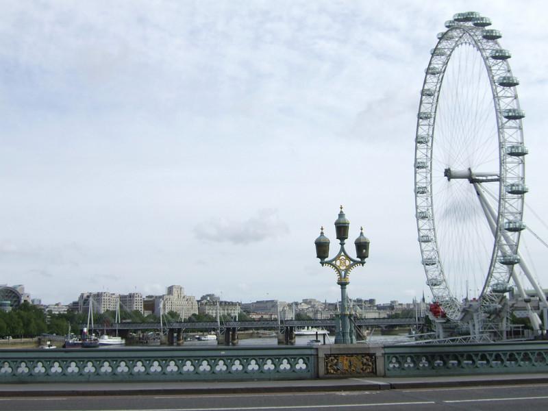 London Eye on the Thames River