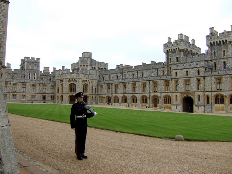Courtyard Inside Windsor Castle