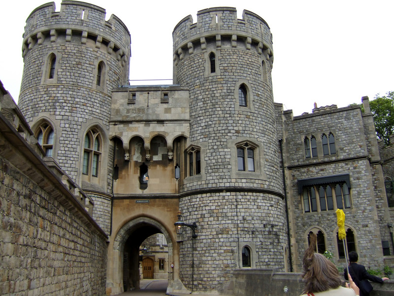 Entering Windsor with Tour Guide