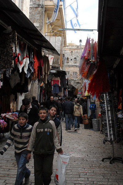 A bazaar connects many streets throughout the Old City.