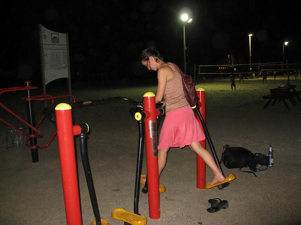 Gym on the beach