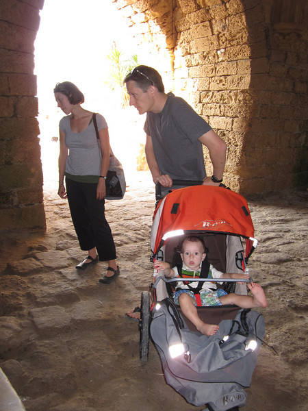 Paul with Katy and Isaac at Cesarea