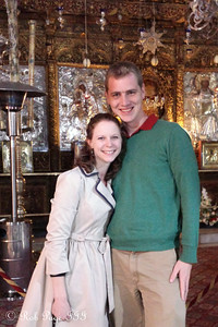 Rob and Emily at the Church of the Nativity where Jesus is believed to have been born - Bethlehem, West Bank / Israel ... March 11, 2014