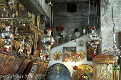 Inside the Church of the Nativity where Jesus is believed to have been born - Bethlehem, West Bank / Israel ... March 11, 2014 ... Photo by Rob Page III