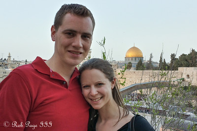 Rob and Emily in front of the Western Wall - Jerusalem, Israel ... March 7, 2014 ... Photo by Gabe Bowers