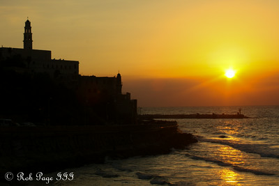 Sunset over Jaffa - Tel Aviv ... March 10, 2014 ... Photo by Rob Page III