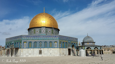 The Dome of the Rock at the Temple Mount - Jerusalem, Israel ... March 11, 2014 ... Photo by Rob Page III
