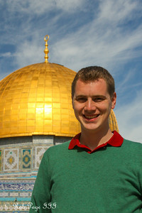 Rob in front of the Dome of the Rock - Jerusalem, Israel ... March 11, 2014 ... Photo by Emily Page