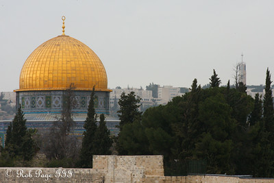 The Dome of the Rock rises above the Temple Mount - Jerusalem, Israel ... March 9, 2014 ... Photo by Rob Page III