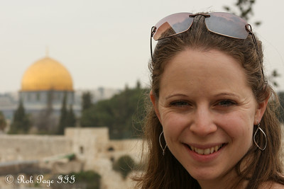 Emily in front of the Dome of the Rock, above the Temple Mount - Jerusalem, Israel ... March 9, 2014 ... Photo by Rob Page III