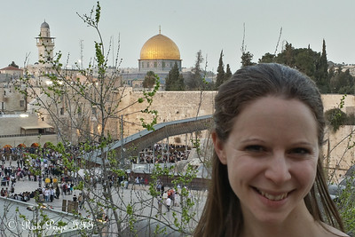 Emily in front of the Western Wall - Jerusalem, Israel ... March 7, 2014 ... Photo by Rob Page III