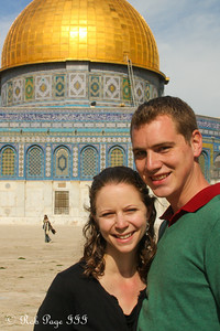 Rob and Emily in front of the Dome of the Rock - Jerusalem, Israel ... March 11, 2014