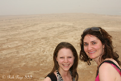Emily and Liora at the Masada with the Judean Desert in the background - Masada National Park, Israel ... March 8, 2014 ... Photo by Rob Page III