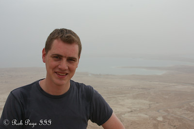 Rob at the Masada with the Judean Desert in the background - Masada National Park, Israel ... March 8, 2014 ... Photo by Emily Page