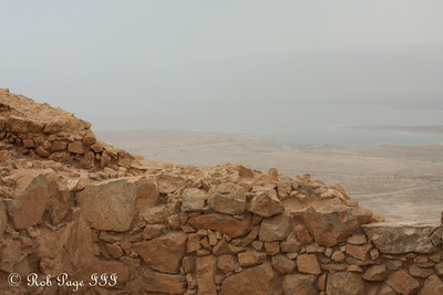 Looking out from the Masada to the Dead Sea - Masada National Park, Israel ... March 8, 2014 ... Photo by Rob Page III