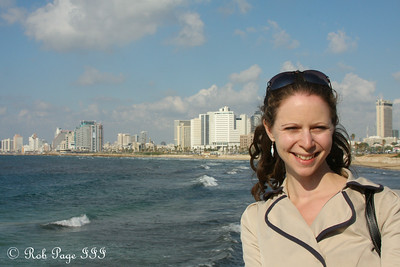 Emily with Tel Aviv in the background - Jaffa, Israel ... March 10, 2014 ... Photo by Rob Page III
