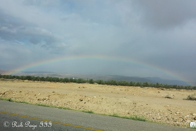 A rainbow over the Israeli desert - Jerusalem, Israel ... March 14, 2014 ... Photo by Rob Page III