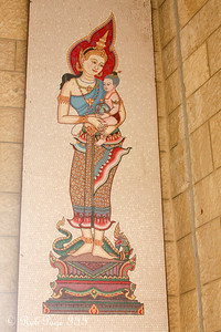 A Thai mural of Mary at the Church of the Annunciation - Nazareth, Israel ... March 14, 2014 ... Photo by Rob Page III
