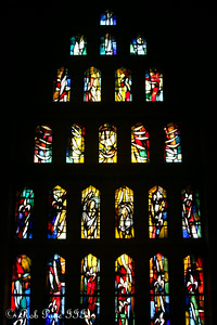 Stain glass windows at the Church of the Annunciation - Nazareth, Israel ... March 14, 2014 ... Photo by Rob Page III
