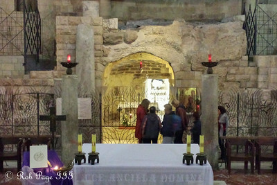 Inside the Church of the Annunciation - Nazareth, Israel ... March 14, 2014 ... Photo by Rob Page III