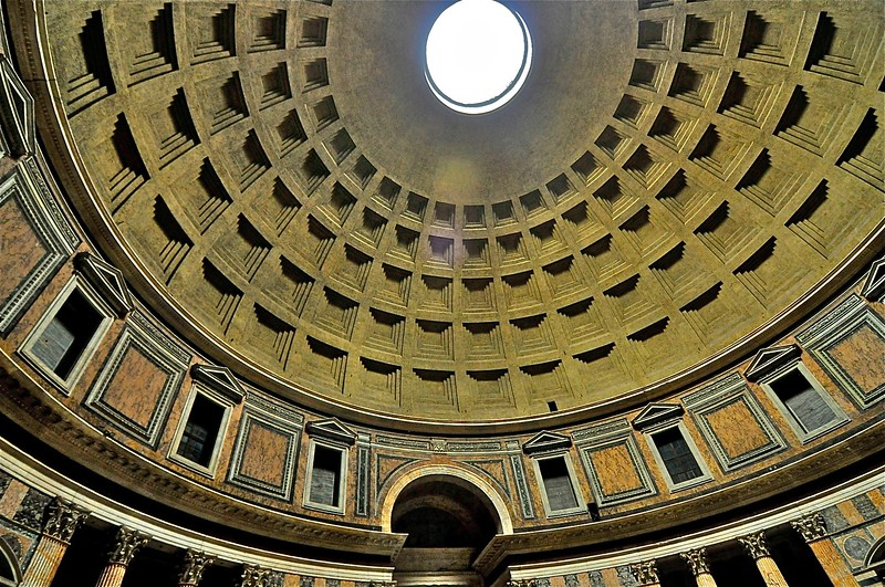 """""""The Oculus"""" Pantheon Ceiling - Rome, Italy"""