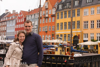 Rob and Emily enjoying the Nyhavn waterfront - Copenhagen, Denmark ... June 2, 2013