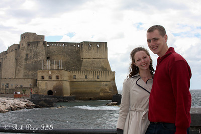 Rob and Emily in front of Castel dell'Ovo - Naples, Italy ... May 25, 2013