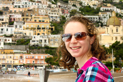 Emily enjoying the day - Positano, Italy ... May 23, 2013 ... Photo by Rob Page III