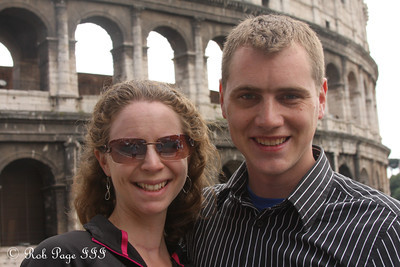 Rob and Emily at the Colosseum - Rome, Italy ... June 1, 2013