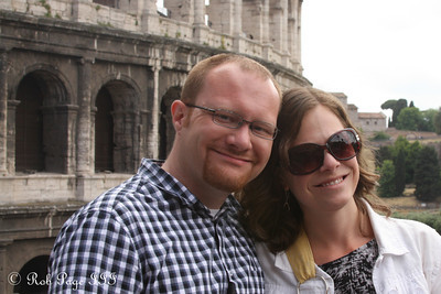 Jen and Jon at the Colosseum - Rome, Italy ... June 1, 2013 ... Photo by Rob Page III