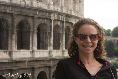 Emily at the Colosseum - Rome, Italy ... June 1, 2013 ... Photo by Rob Page III