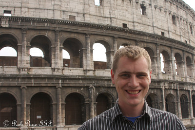 Rob at the Colosseum - Rome, Italy ... June 1, 2013